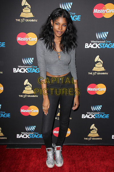 LOS ANGELES, CA - FEBRUARY 12: Diamond White at the 2016 Grammys Radio Row Day 1 presented by Westwood One, Staples Center, Los Angeles, California on February 12, 2016.   <br /> CAP/MPI/DE<br /> &copy;DE//MPI/Capital Pictures
