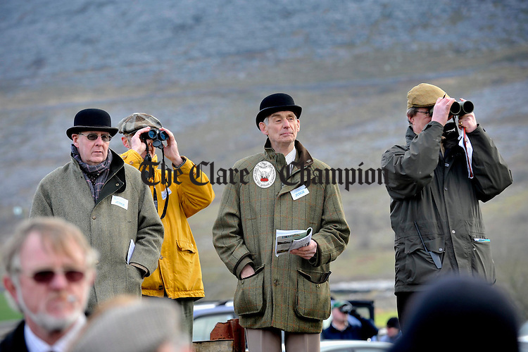 Keeping an eye on all the action at the Point to Point in Bellharbour. Photograph by John Kelly.