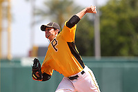 Pittsburgh Pirates pitcher Jeff Locke #37 delivers a pitch during a spring exhibition game against the Netherlands National Team at the Al Lang Field on March 12, 2012 in St. Petersburg, Florida.  (Mike Janes/Four Seam Images)