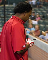 Martinez, Pedro _6411.jpg Philadelphia Phillies at Houston Astros. Major League Baseball. September 7th, 2009 at Minute Maid Park in Houston, Texas. Photo by Andrew Woolley.