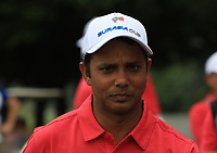 SSP Chawrasia (Asia) on the 18th during the Friday Foursomes of the Eurasia Cup at Glenmarie Golf and Country Club on the 12th January 2018.<br /> Picture:  Thos Caffrey / www.golffile.ie