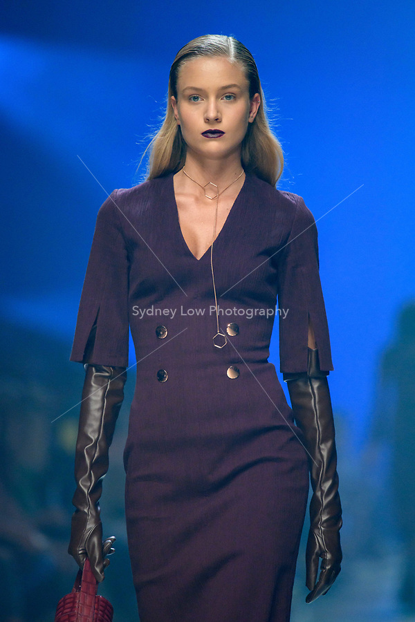 8 March 2018, Melbourne - Models showcase designs by Ginger & Smart during the Virgin Australia Grand Showcase show at the 2018 Virgin Australia Melbourne Fashion Festival in Melbourne, Australia. (Photo Sydney Low / asteriskimages.com)