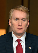 United States Senator James Lankford (Republican of Oklahoma) questions witnesses during an open hearing held by the US Senate Select Committee on Intelligence to examine worldwide threats on Capitol Hill in Washington, DC on Tuesday, February 9, 2016.<br /> Credit: Ron Sachs / CNP