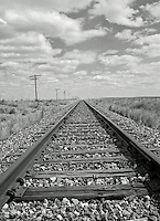 Train tracks heading into Kansas from Eads, Colorado which is way out on the plains.