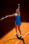 The tennis player Ana Ivanovic during the match against simona halep in the Madrid Open Tennis Tournament. In Madrid, Spain, on 09/05/2014.