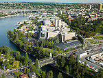Aerial Photos-University of Washington South Campus, UW Medical Center, Montlake Cut