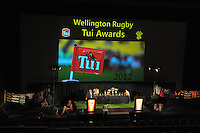 Wellington Rugby Union Tui Awards at the Embassy Theatre, Wellington, New Zealand on Tuesday, 30 October 2012. Photo: Dave Lintott / lintottphoto.co.nz