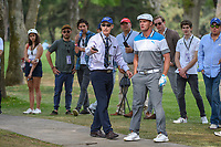 Bryson DeChambeau (USA) talks to a rules official regarding a free drop during round 3 of the World Golf Championships, Mexico, Club De Golf Chapultepec, Mexico City, Mexico. 2/23/2019.<br /> Picture: Golffile | Ken Murray<br /> <br /> <br /> All photo usage must carry mandatory copyright credit (© Golffile | Ken Murray)