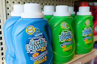 Bottles of Arctic Power liquid detergent are seen in a Metro grocery store in Quebec city March 4, 2009.