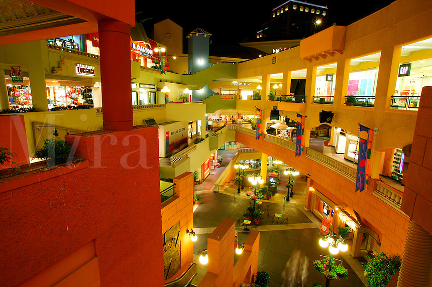 Horton Plaza shopping mall, downtown San Diego, California