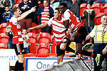 Doncaster Rovers v Nottingham Forest<br /> 21.9.2013<br /> Sky Bet Championship<br /> Picture Shaun Flannery/Trevor Smith Photography<br /> Federico Macheda celebrates his second goal for Doncaster.