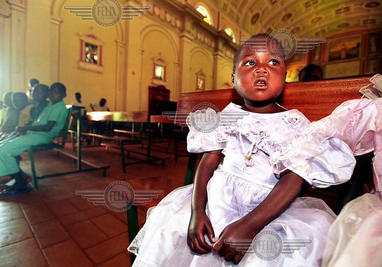 Children in Gulu Catholic church.