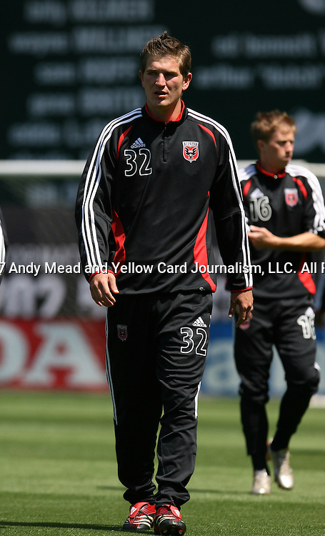 06 May 2007: DC's Bobby Boswell.  DC United defeated CD Chivas USA 2-1 at RFK Stadium in Washington, DC in a Major League Soccer 2007 regular season game.