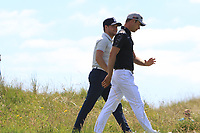 Niall Horan (AM) and Guido Migliozzi (ITA) on the 6th during the Pro-Am of the Irish Open at LaHinch Golf Club, LaHinch, Co. Clare on Wednesday 3rd July 2019.<br /> Picture:  Thos Caffrey / Golffile<br /> <br /> All photos usage must carry mandatory copyright credit (© Golffile | Thos Caffrey)