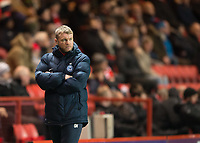 Grant McCann manager of Peterborough United during the Sky Bet League 1 match between Charlton Athletic and Peterborough at The Valley, London, England on 28 November 2017. Photo by Vince  Mignott / PRiME Media Images.