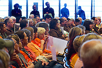 A press conference was held at the Seattle City Council building by Friends of Woodland Park Zoo announcing they will be suing the zoo to get Chai and Bamboo sent to a sanctuary.  Afterwards, supporters of the zoo joined them to speak at a city council meeting during a 20 minute pubic comment period. (photo © Karen Ducey Photography)