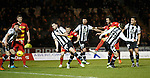 Dan Seaborne scores the opening goal for Partick Thistle