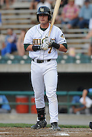 Infielder Joseph Terdoslavich (7) of the Lynchburg Hillcats, Carolina League affiliate of the Atlanta Braves, in a game against the Wilmington Blue Rocks on June 15, 2011, at City Stadium in Lynchburg, Va. (Tom Priddy/Four Seam Images)