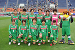NTV Beleza Team Group Line-Up,.APRIL 22, 2012 - Football/Soccer : 2012 Plenus Nadeshiko League,2nd sec match between NTV Beleza 3-0 AS Elfen Sayama FC at Komazawa Olympic Park Stadium, Tokyo, Japan. (Photo by Jun Tsukida/AFLO SPORT) [0003]