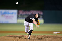 Kannapolis Intimidators relief pitcher Mike Morrison (24) in action against the Augusta GreenJackets at Kannapolis Intimidators Stadium on May 3, 2017 in Kannapolis, North Carolina.  The Intimidators defeated the GreenJackets 7-4.  (Brian Westerholt/Four Seam Images)