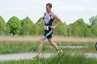 TRIATHLON: HEERENVEEN: 23-05-2015, CLAFIS Triathlon Heerenveen, Olympische klasse, Pascal Dankelman, ©foto Martin de Jong