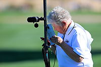 doing the math during the 2nd round of the Waste Management Phoenix Open, TPC Scottsdale, Scottsdale, Arisona, USA. 01/02/2019.<br /> Picture Fran Caffrey / Golffile.ie<br /> <br /> All photo usage must carry mandatory copyright credit (© Golffile | Fran Caffrey)
