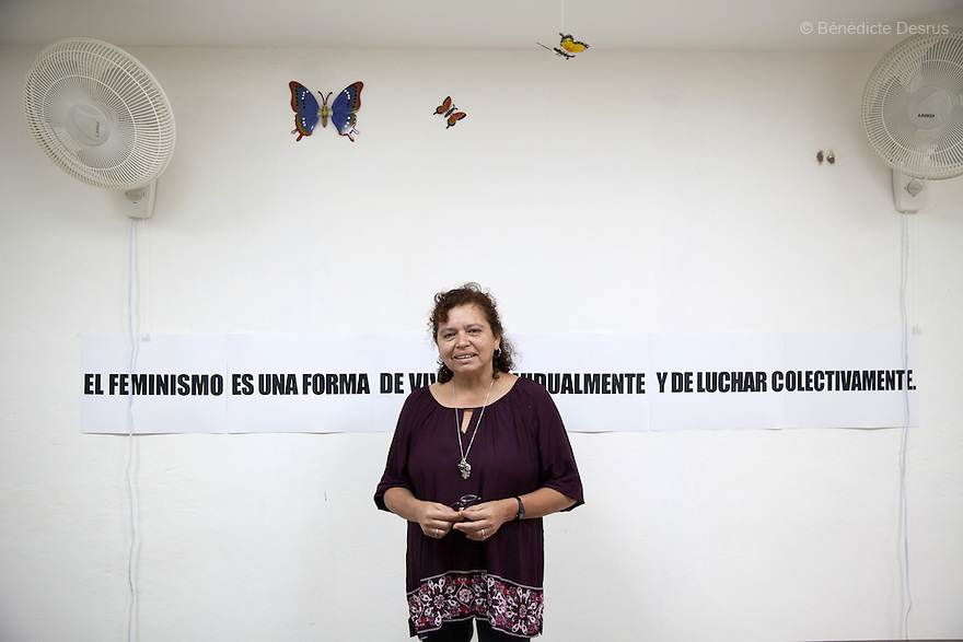 """Morena Herrera, a former Marxist guerrilla commander, now the Director of the San Salvador Feminist Collective and pro-abortion activist, at """"La Casa de la Mujer"""" in Suchitoto, El Salvador on June 8, 2015. Abortion in El Salvadorisillegal. The law formerly permitted an abortion to be performed under some limited circumstances, but, in 1998, all exceptions were removed when a newabortion law went into effect. Photo by Bénédicte Desrus"""