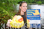 Killarney women, Jill Duggan, is appealing for everyone to support a charity duck race on Deenagh River on  Sunday, June 10th.