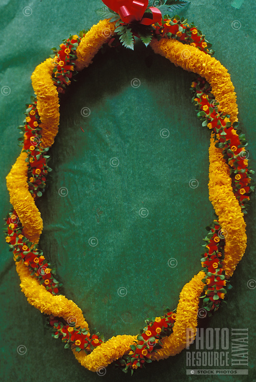 Ehu pua and ilima lei, a traditional Hawaiian lei