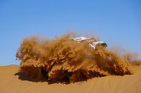 12th January 2020, Riyadh, Saudi Arabia;  302 Peterhansel Stéphane (fra), Fiuza Paulo (prt), Mini John Cooper Works Buggy, Bahrain JCW X-Raid Team, Auto, Car, action during Stage 7 of the Dakar 2020 between Riyadh and Wadi Al-Dawasir, 741 km - SS 546 km, in Saudi Arabia  - Editorial Use