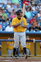 Bowling Green Hot Rods third baseman Julio Cedeno during a game vs. the Lake County Captains at Classic Park in Eastlake, Ohio;  August 20, 2010.   Lake County defeated Bowling Green 5-3.  Photo By Mike Janes/Four Seam Images