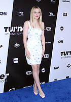 NEW YORK, NY - MAY 16: Dakota Fanning at Turner Upfront 2018 at Madison Square Garden in New York. May 16, 2018 Credit:/RW/MediaPunch