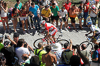 Joaquin Purito Rodriguez and Alberto Contador during the stage of La Vuelta 2012 between Vilagarcia de Arousa and Mirador de Erazo (Dumbria).August 30,2012. (ALTERPHOTOS/Paola Otero) /NortePhoto.com<br />