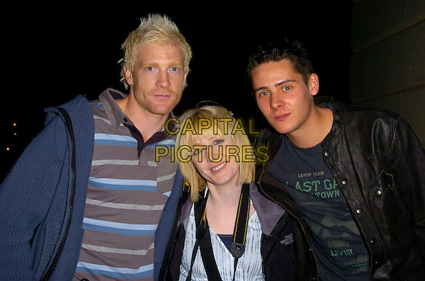 "IWAN THOMAS, YVETTE FIELDING & CHRIS PARKER.At the O2 Undiscovered 2007 Final Party, where they were filming thie ITV reality show ""Deadline"" at the ICA,.London, England, April 17th 2007..half length papprazzi camera.CAP/CAN.©Can Nguyen/Capital Pictures"
