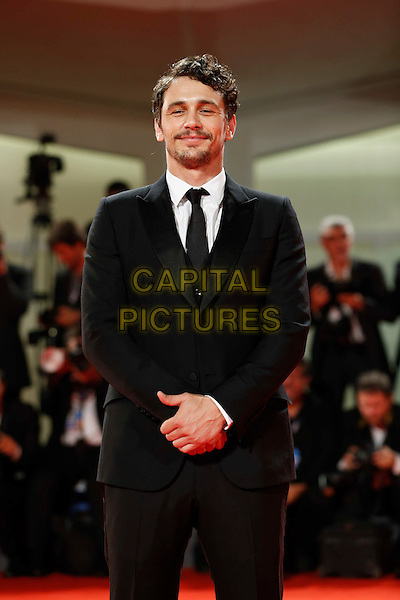 James Franco.The 'Spring Breakers' Premiere during The 69th Venice Film Festival at the Palazzo del Cinema, Venice, Italy.September 5th, 2012 .half length black suit white shirt beard facial hair  .CAP/IPP/GR.©Gianluca Rona/IPP/Capital Pictures.