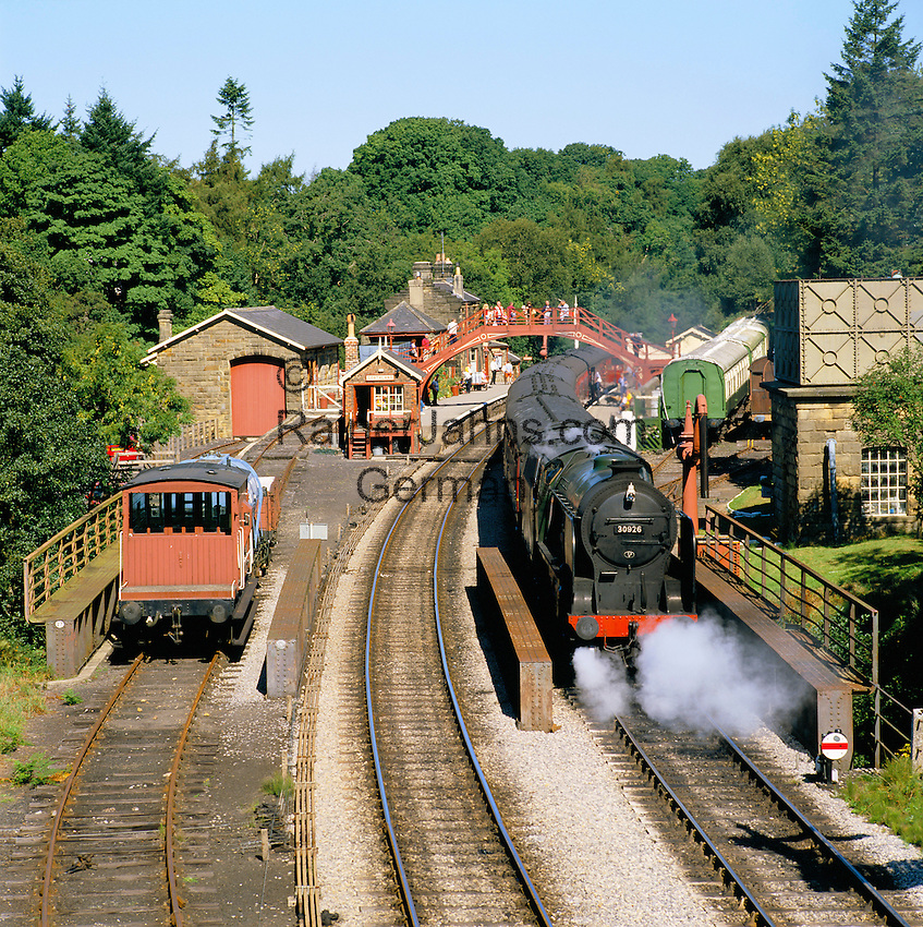 Great Britain, England, North Yorkshire, Goathland: North Yorks Moors Railway (heartbeat Country) | Grossbritannien, England, North Yorkshire, Goathland: North Yorks Moors Railway