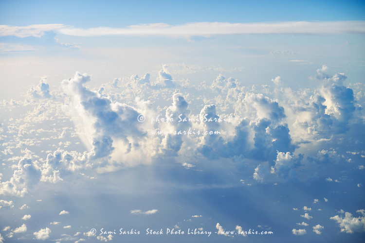 Above cloudscape over ocean