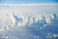 Above cloudscape over ocean