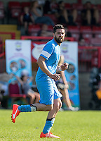 Andy Gomez of Celeb FC during the 'Greatest Show on Turf' Celebrity Event - Once in a Blue Moon Events at the London Borough of Barking and Dagenham Stadium, London, England on 8 May 2016. Photo by Andy Rowland.