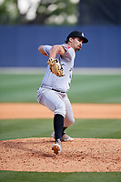 Jackson Generals relief pitcher Jared Miller (40) delivers a pitch during a game against the Biloxi Shuckers on April 23, 2017 at MGM Park in Biloxi, Mississippi.  Biloxi defeated Jackson 3-2.  (Mike Janes/Four Seam Images)