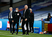 29th June 2020; Selhurst Park, London, England; English Premier League Football, Crystal Palace versus Burnley Football Club; Burnley Manager Sean Dyche laughing on the touchline during the 2nd half