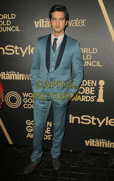 Michael Steger.The Hollywood Foreign Press Association And InStyle Miss Golden Globe 2013 Party held at Cecconi's Restaurant, West Hollywood, California,.USA, 29th November 2012..full length green suit tie waistcoat .CAP/ADM/KB.©Kevan Brooks/AdMedia/Capital Pictures.
