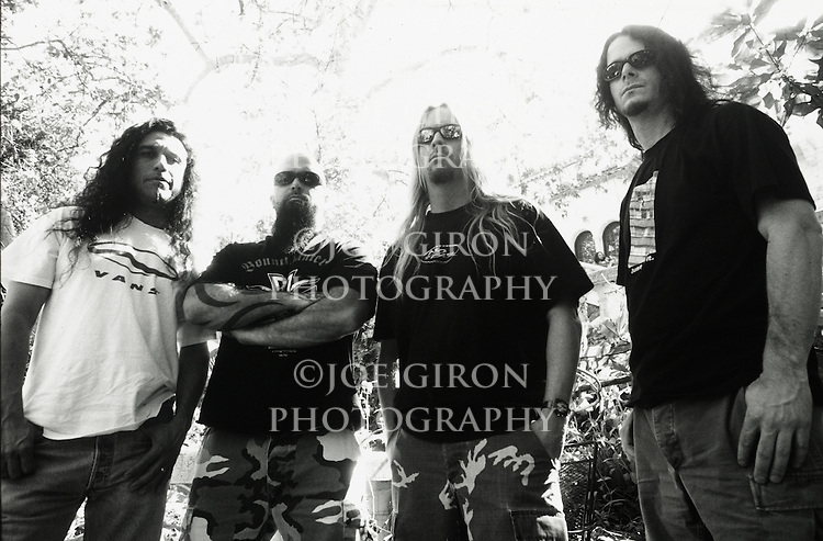 Various portraits & live photographs of the rock band, Slayer.