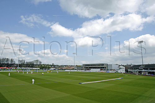 29 April 2006: General view of the County Ground, Derby during the first day of the tour match between Derbyshire and Sri Lanka played at the County Ground. Photo: Neil Tingle/Action Plus..060429 cricket pitch