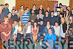 BON VOYAGE: Eric Dennehy, Rathoonane Claire Ahern, Kilorglin and Adam Moore, Shanakill, Tralee (seated 3rd, 4th & 5th left) who are heading for Australia having a great time at their leaving party at the Na Gaeil clubhouse, Tralee on Saturday.
