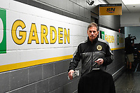 June 6, 2019: Boston Bruins head coach Bruce Cassidy makes his way to the locker rooms before game 5 of the NHL Stanley Cup Finals between the St Louis Blues and the Boston Bruins held at TD Garden, in Boston, Mass. Eric Canha/CSM