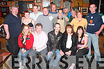 40th: Making the most of the night at his surprise party in The Huddle Bar, Strand St, Tralee, on Wednesday last was Eugene Fitzgerald of Kerins Park (seated centre), along with family and friends.