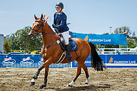 Lucy Olphert rides Yves St Laurent during the Harrison Lane 1.25m Open Jumping Competition. Final-1st. 2019 Equitana Auckland. ASB Showgrounds. Auckland. New Zealand. Friday 22 November. Copyright Photo: Libby Law Photography