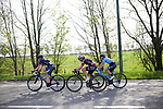The breakaway featuring Louise Norman Hansen (DEN) Team Virtu Cycling, Maaike Boogaard (NED) BTC City Ljubljana and Rachel Neylan (AUS) Movistar Team Women during the 2018 Liege-Bastogne-Liege Femmes running 136km from Bastogne to Ans, Belgium. 22nd April 2018.<br /> Picture: ASO/Thomas Maheux | Cyclefile<br /> All photos usage must carry mandatory copyright credit (&copy; Cyclefile | ASO/Thomas Maheux)