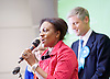 General Election count for the Twickenham &amp; Richmond Park constituencies at the Twickenham Rugby Stadium, Twickenham, Middlesex, Great Britain <br /> 9th June 2017 <br /> <br /> Zac Goldsmith wins the Richmond Park <br /> Labour candidate Cate Tuitt makes speech <br /> <br /> <br /> Photograph by Elliott Franks <br /> Image licensed to Elliott Franks Photography Services
